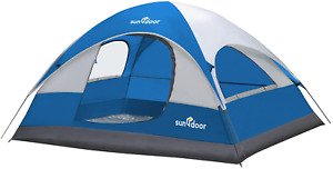 SUNDOOR 4 Person Camping Tent for Family, Solo, Couple, Bush Craft, Waterproof,