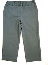 CHARTER CLUB Womens Olive Green Capri Cropped Pants 6 SMALL S Stretch inseam 23""