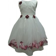 Girls Dress Flower Wedding Party Bridesmaid Pageant Pink Wine Lilac New Age 1-5