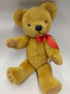 Vintage Merrythought Jointed Mohair Teddy Bear Soft Plush Toy 36 cm tall