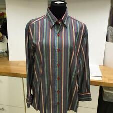 Minos Men's Multi Color Rich Detail Long Sleeve Button Front Shirt Small EUC