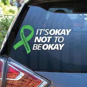 2 x Mental Health Awareness Stigma Its Okay Not To Be Okay Mind Car Decal UK
