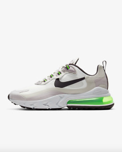 Nike Air Max 270 React Mens Shoe White Electric Green CI3866 100 - SIZE 12 - NEW