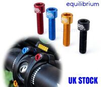 4x M5x17mm 7075 ALLOY ROAD MOUNTAIN BIKE STEM BOLTS SCREWS BLACK RED BLUE GOLD