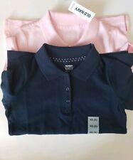 Old Navy Uniform Shirts Pink/ Navy Blue Girls Size Xs 5