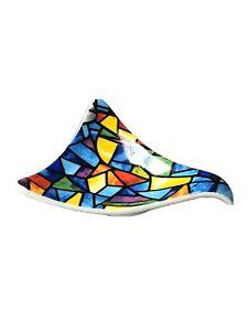 Gaudi Mosaic Design Small Ceramic China Pottery Dish Abstract Shape Multi Colour