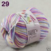 Sale 1 Skein x50g Baby Cashmere Silk Wool Children hand knitting Crochet Yarn 29