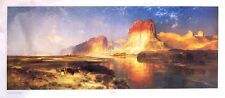 "Green River by Thomas Moran 36"" X 17"" Western Art Print"