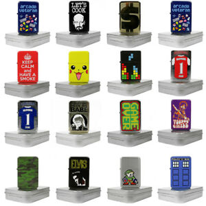 Windproof Metal Bomb Lighter with Protective Tin -  NEW DESIGNS