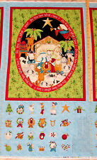 Do You See What I See Nativity Religious Advent Calendar Fabric Panel  #8287P