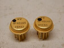 Western Electric Gold Plated ICP Integrated Circuit Package GF40165 & GF40148