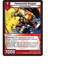 Kaijudo X3 CANNONADE DRAGON Rare #97/160 15VTX (Playset) Vortex DUEL MASTERS