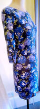 Ladies Blue / Multi Floral Stretch Dress. Size 8