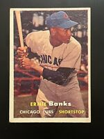 1957 Topps Ernie Banks Chicago Cubs #55