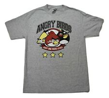 Angry Birds Mens Just One More Level Shirt New M