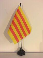 "CATALONIA TABLE FLAG 9"" X 6"" 22.5cm x 15cm flags CATALAN"