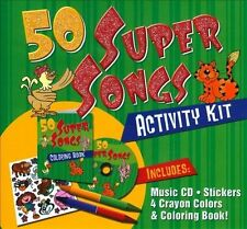50 Super Songs Activity Kit [Digipak] by The Countdown Kids (CD, Feb-2012 Sonoma