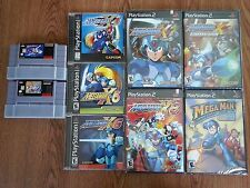 Epic Mega Man X Lot SNES X2 X3 PS1 X4 X5 X6 PS2 X7 X8 XCollection and More!