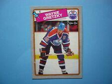 1988/89 O-PEE-CHEE BOX BOTTOM NHL HOCKEY CARD #B WAYNE GRETZKY SHARP+ 88/89 OPC