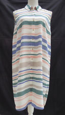 George cream with stripes l'weight crepe/floaty style sleeveless dress Size 16