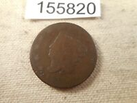 1823/2 Coronet Head Large Cent Unslabbed Collector Grade Album Coin - # 155820