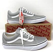 VANS Old Skool Canvas Silver Grey Women's All Sizes Sneakers VN0A4U3BX1K