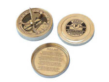 "Robert Frost Road Not Taken Compass with Rosewood Box 4"" - Brass Compass"