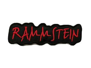 Rammstein Sew / Iron On Music Festival Embroidered Badge (b)