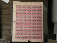 US SCOTT # 703 2 CENT YORKTOWN MINT SHEET NH OG ( SEE DETAILS)