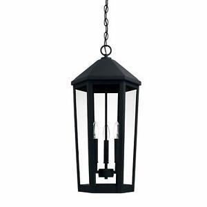 Capital Lighting 926933BK Ellsworth 3-Light Outdoor Pendant, Black