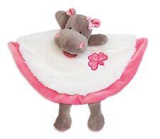 Doudou Babynat Baby'nat Hippopotame Zoe Blanc et Rose plat Bn082