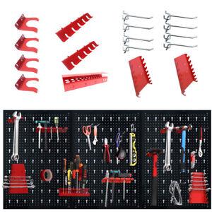 3 Werkzeugwand Lochwand Werkstattwand Werkstatt mit 17 tlg Haken set 120 x 60 cm