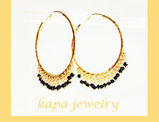 Gold Plated Indian gold earrings Party Fashion Jewelry large hoop earrings