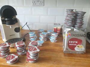 Bosch TASSIMO Vivy TAS1257GB Coffee Machine - Cream over 100 costa pods!!!
