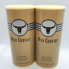 Avon wild country talc powder 2.65 oz lot of 2 DISCONTINUED
