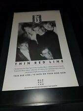 Glass Tiger Thin Red Line Rare Original Promo Poster Ad Framed!