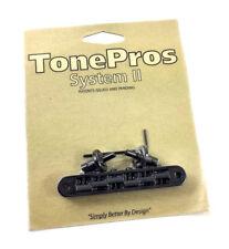 Tone Pros Black TP6 Locking Nashville Tunematic Guitar Bridge GB-0543-003