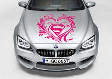 TRIBAL HEART SUPERGIRL LOGO DESIGN DECAL VINYL GRAPHIC HOOD SIDE CAR TRUCK