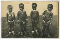 c 1910 African Native Young ZULU KIDS post Zulu Wars Africa photo postcard