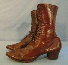 Victorian Woman's Leather Shoes Boots Foot Wear Lace Up Early 1900's