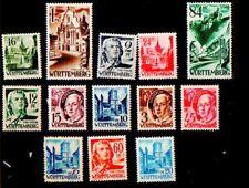 timbres WURTEMBERG occupation française en Allemagne - SERIE COMPLETE NEUVE