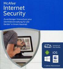 McAfee Internet Security 2016 Unlimited  1 Jahr (AntiVirus) Deutsch / KEY