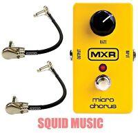 MXR Dunlop M-148 Micro Chorus Guitar Effects Pedal M148 ( 2 MXR PATCH CABLES)