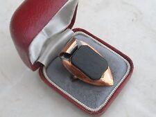 Interesting Signed 12k Gold Filled Shank Metal Ring Sz K 1/2