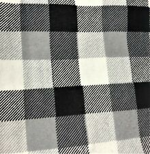 34 inches (short yard) Super Snuggle Gray Black Buffalo Check Cotton Flannel