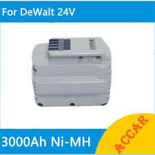 Battery For Dewalt 24V Hammer Drill 3.0Ah Ni-Mh Heavyduty DW006KH DW017N DC223KA