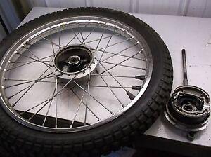 72 Suzuki Duster TS 125 Front Wheel & Brake Hub Axle Spacer  NICE TS125J T2