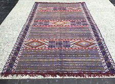 Moroccan Berber Kilim Rug Carpet -Tribal Art - Colorful - Larger Size 8.6 x 4.7