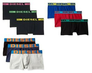 Diesel Mens 3 Pack Boxer Shorts Underwear Trunks 3 Different Colours All Sizes