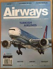 Airways Turkish Airways Boeing 767-200 Air Serbia June 2015 FREE SHIPPING!